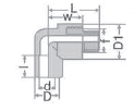 Коляно за стена с външна месингова резба