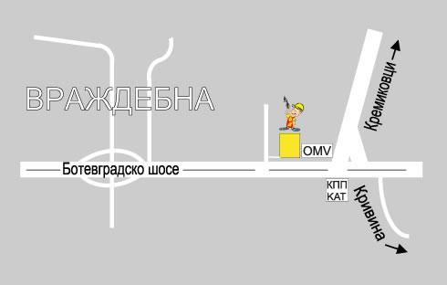 """Карта - Строителна борса """"Партньори"""" - склад 1"""