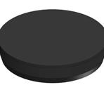 Тапа гумена Ф50 външна за фитинг черна