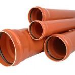 Тръба PVC Ф250 мм./4.9 мм./4 м. Муфирана – (SN2) ор.